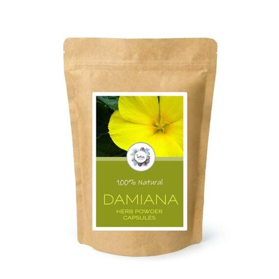 Damiana (Turnera diffusa) Herb Powder Capsules