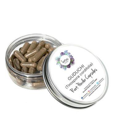 Guduchi (Tinospora cordifolia) Herb Powder Capsules