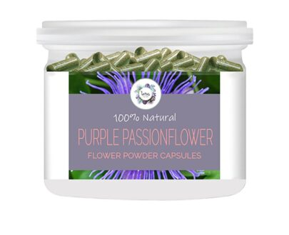 Purple Passionflower (Passiflora incarnata) Flower Powder Capsules