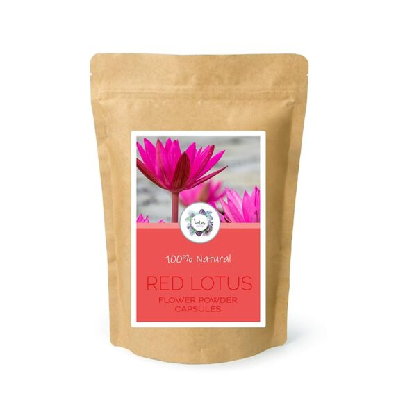 Red Lotus (Nymphaea rubra) Flower Powder Capsules