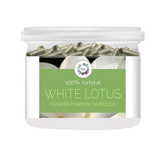 White Lotus (Nelumbo nucifera) Flower Powder Capsules