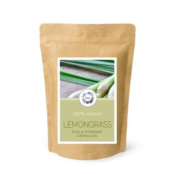 Lemongrass (Cymbopogon citratus) Stalk Powder Capsules