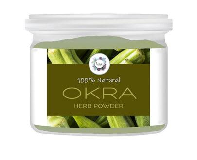 Okra (Abelmoschus esculentus) Herb Powder