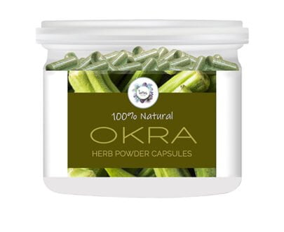 Okra (Abelmoschus esculentus) Herb Powder Capsules