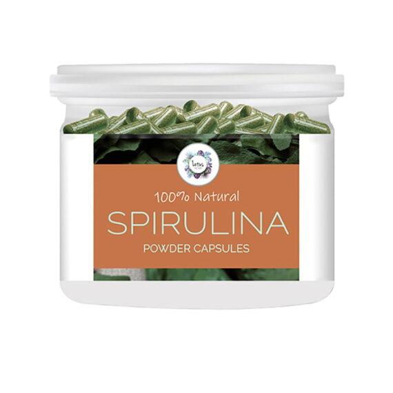 Spirulina (Arthrospira platensis) Powder Capsules